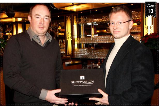 Rüdiger Gawlitta (Brasserie am Gendarmenmarkt) & Henry Bökemeiser (Gründer SHOEPASSION.com)
