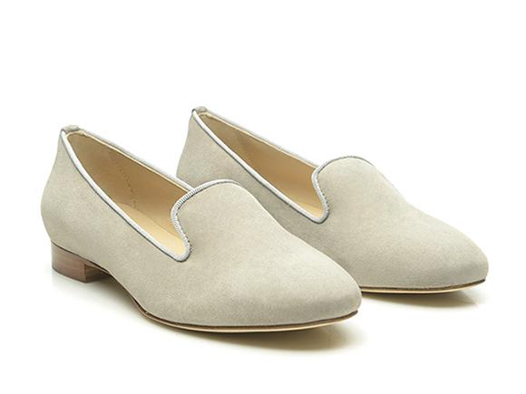 d2d2ee902c5b SHOEPASSION.com – Graue Loafer für Damen aus Nubuk