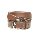 Women's dark brown leather belt