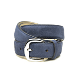 Women's blue suede belt