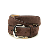 Women's dark brown suede belt