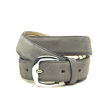 Women's grey suede belt