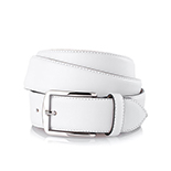 Men's leather belt in white