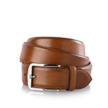 Men's leather belt in brown