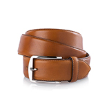 Men's leather belt in cognac