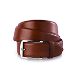 Men's leather belt in red brown