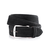 Men's suede belt in black