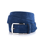 Men's suede belt in blue