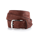 Men's suede belt in brown