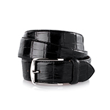 Men's alligator belt in black