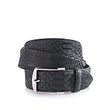 Men's python belt in black