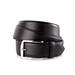 Men's deerskin belt in dark brown