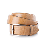 Men's ostrich belt in beige