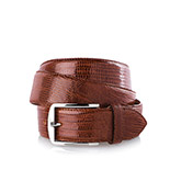 Men's lizard belt in brown