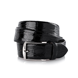 Men's crocodile belt in black