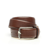 Men's scotchgrain belt in brown