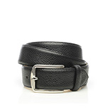Men's scotchgrain belt in black
