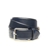 Men's leather belt in blue