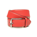 Men's belt in red