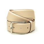 Men's belt in cream