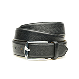 Men's deerskin belt in black