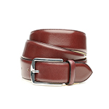 Men's belt in bordeaux