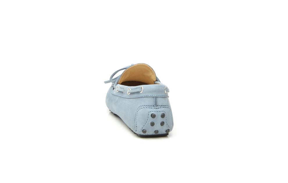 SHOEPASSION.com – Élégant mocassin pour femme en nubuck bleu clair b5c420ff3206