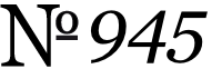 No. 945