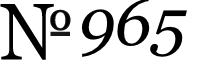 No. 965