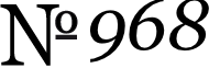 No. 968