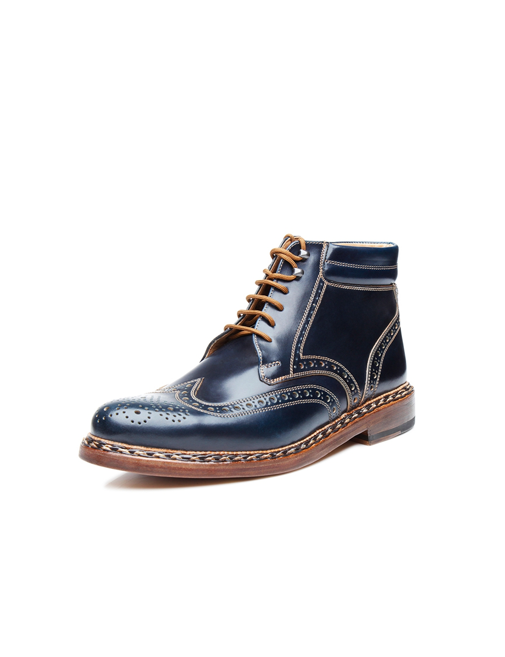 95b23edd5c6 Luxurious men's lace-up boot made of shell cordovan