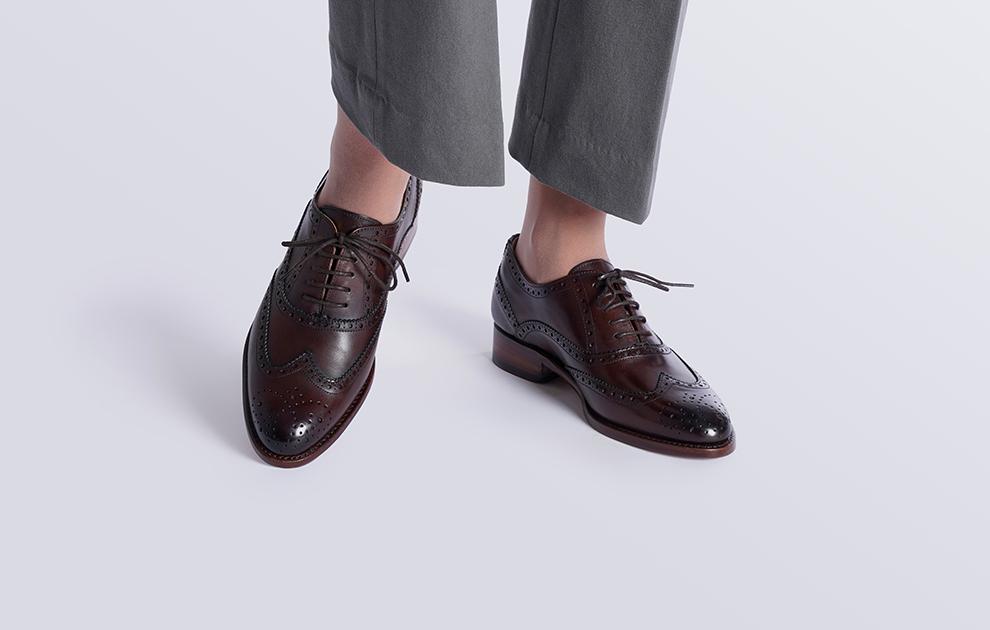 Shoepassion Com Buty Full Brogue Oxford Wiedenki Pelne Brogsy W Kolorze Ciemnobrazowym