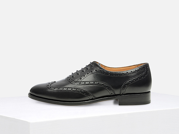 shoepassion – goodyear-welted black women's brogue