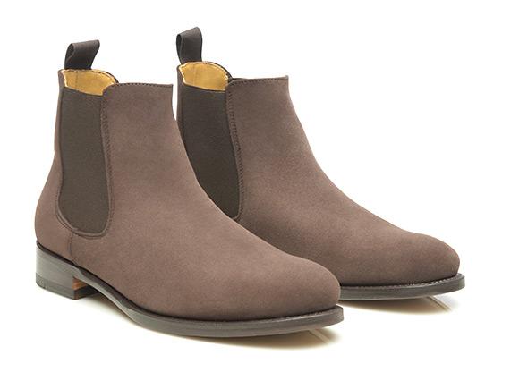 2b81fbc99e405 SHOEPASSION.com – Chelsea boots cousus Goodyear en velours pour femme