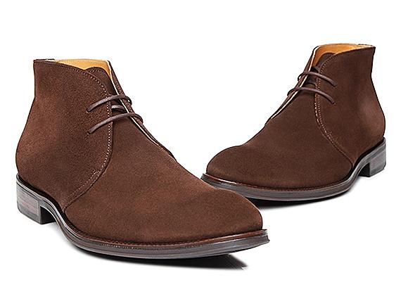 Shoepassion Com Men S Chukka Boot In Dark Brown Velours