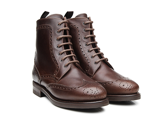 SHOEPASSION NO. 266 - Bottines à lacets marron foncé