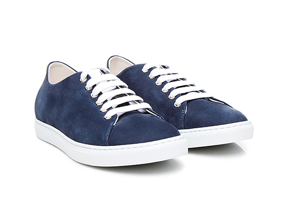 37171d3cc22f SHOEPASSION.com – Sneakers femme en nubuck bleu marine