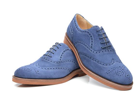 102af58409f6 SHOEPASSION.com – Richelieu à bout golf fleuri cousu trépointe en bleu
