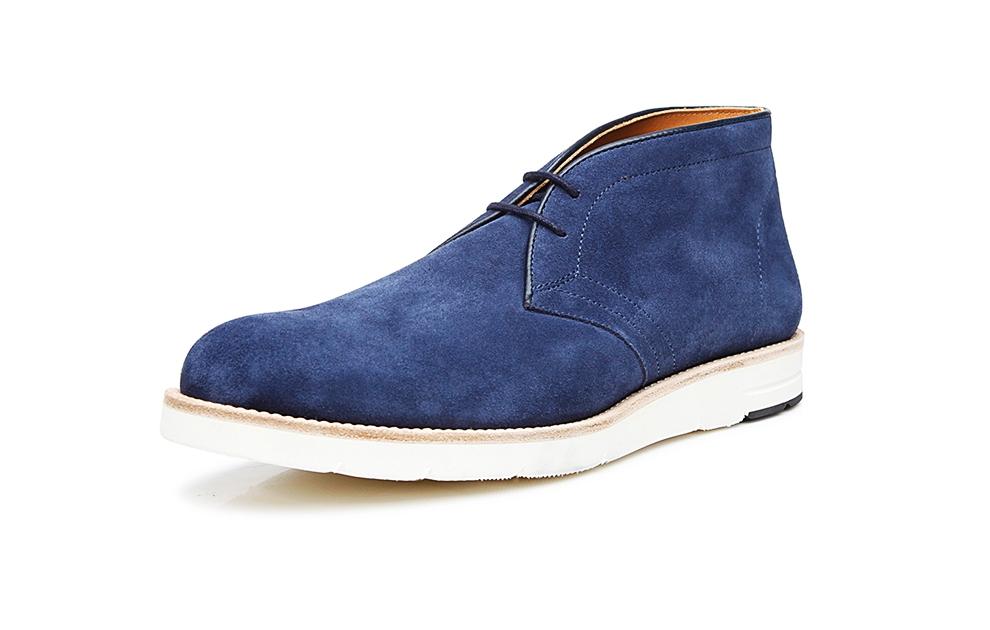 08bd2411b4cd SHOEPASSION.com – Derby boot en velours bleu marine