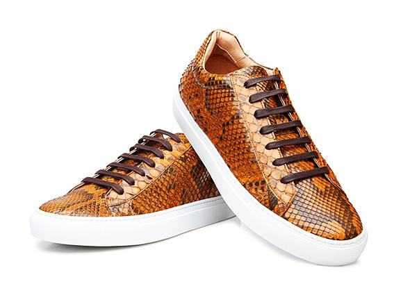 a72f04f5c3da3 SHOEPASSION.com – Brauner Herren-Sneaker aus Pythonleder