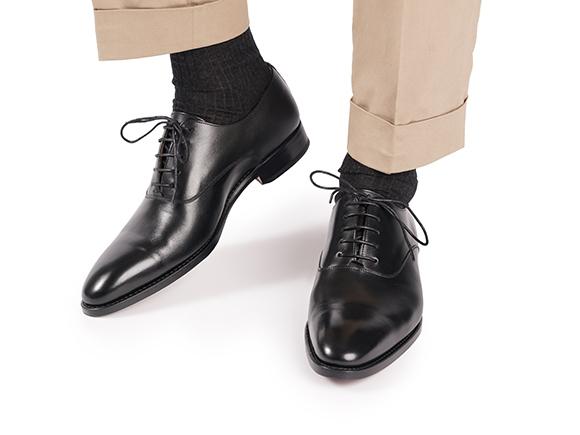 Shoepassion Com Eleganckie Buty Meskie Plain Oxford W Kolorze Czarnym