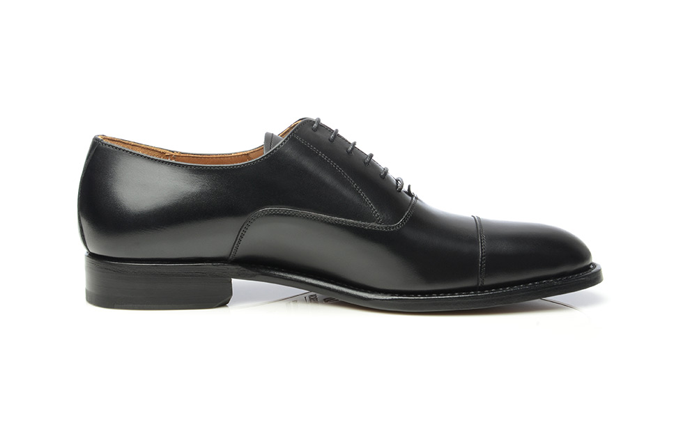 Shoepassion Goodyear Welted Cap Toe Oxford In Black