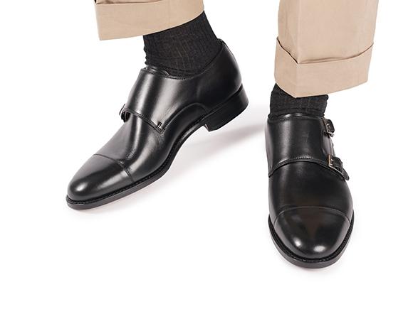 SHOEPASSION.com – Black Double Monk Strap