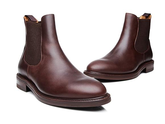97474e6d78c083 SHOEPASSION.com – Chelsea boots en marron foncé avec semelle Dainite