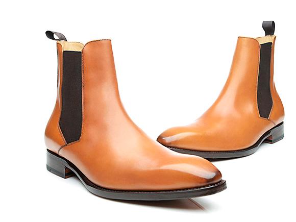10baa10cc12635 Modèle N° 660 – Chelsea boots cousus Goodyear en cognac