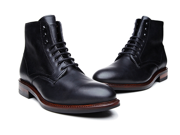 SHOEPASSION.com – Goodyear-welted Derby Boot for Men in Black 6c70c99964