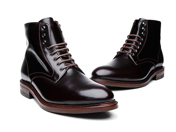 6fb31238d SHOEPASSION.com – Goodyear-welted Derby Boot for Men in Dark Brown