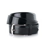 Men's shell cordovan belt in black