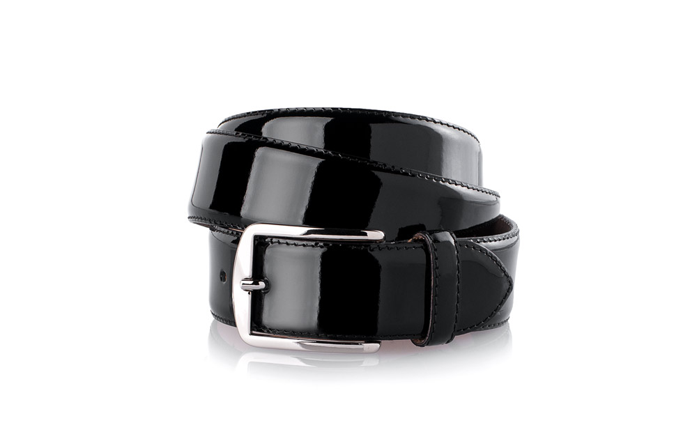 a5e68df89fb5e SHOEPASSION.com – Men's Patent Belt in black