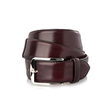 Men's shell cordovan belt in burgundy